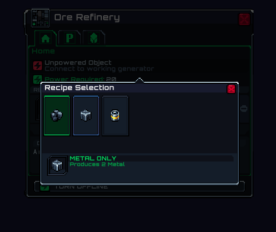 You can now specify the produced resources in the refinery and mining probe