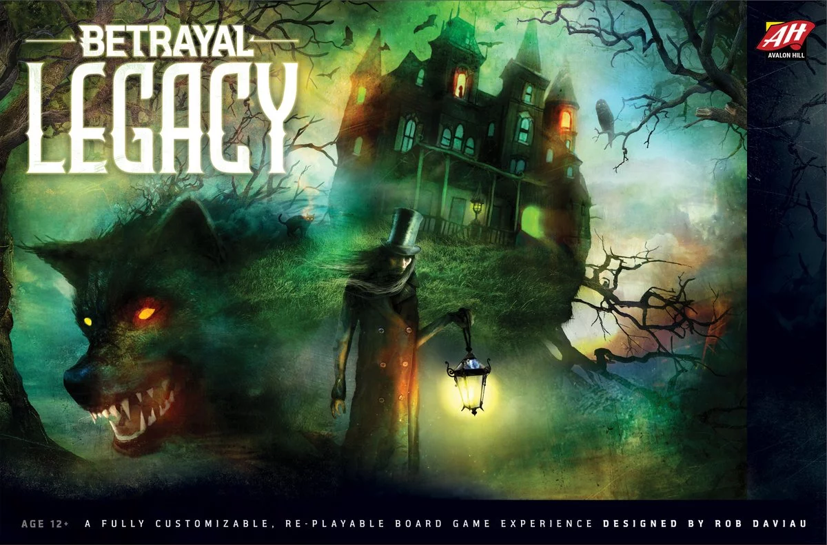 JR, Brian, and Cody contributed haunt writing, development, and playtesting to Betrayal Legacy by Rob Daviau