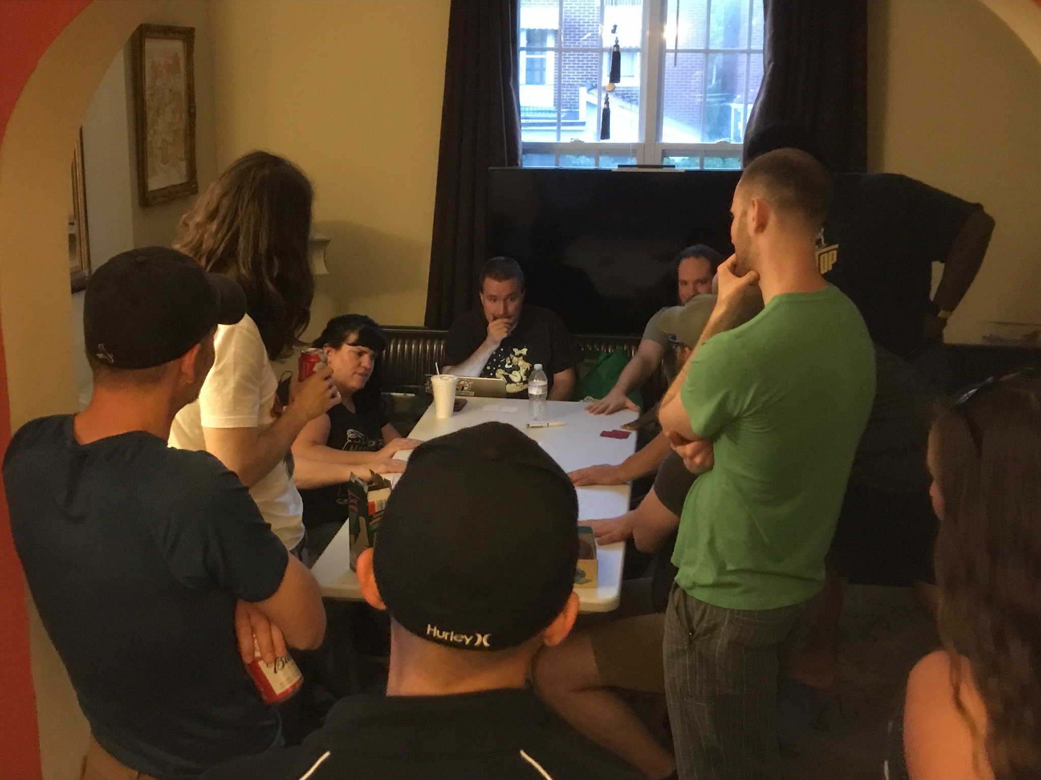 An impromptu group feedback session