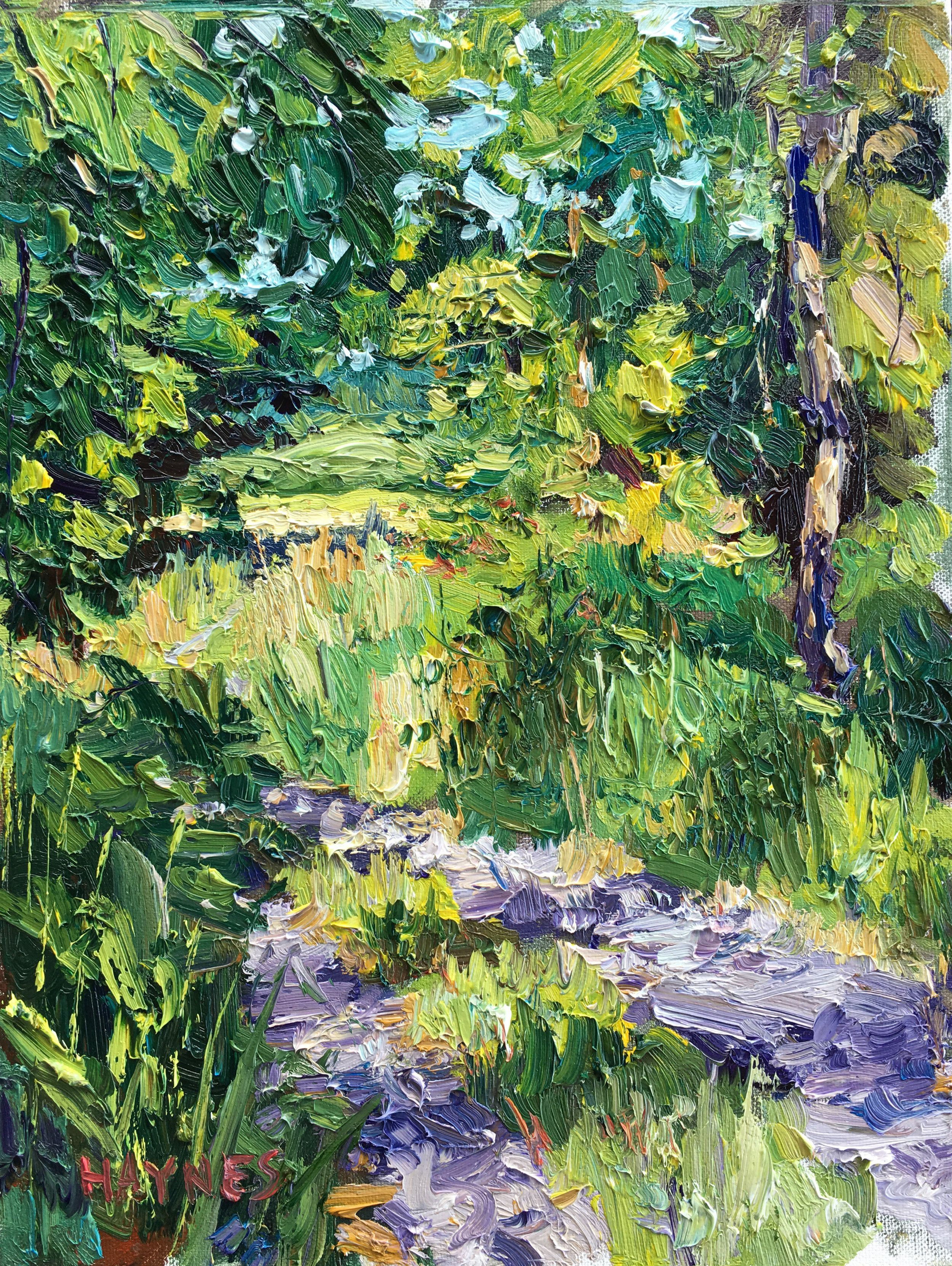 Road to Pickering Creek Farm 11x14, Oil on Canvas.jpg