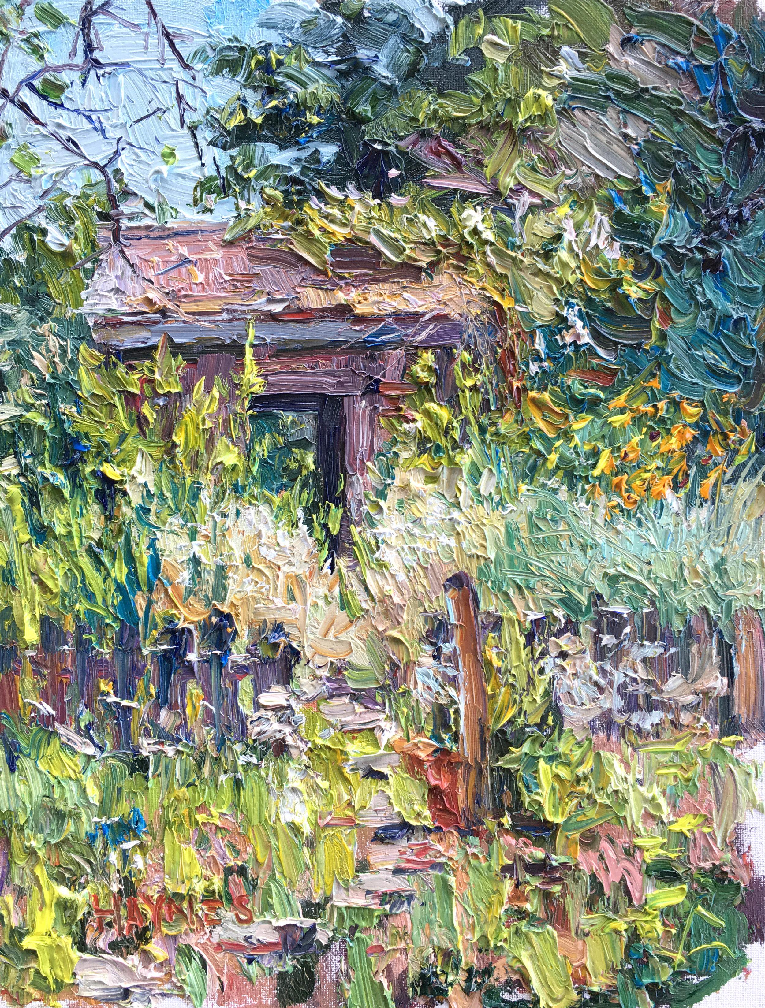 Settler's Cabin 11x14, Oil on Canvas.jpg