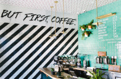 Alfred Coffee - in Brentwood, Los Angeles.