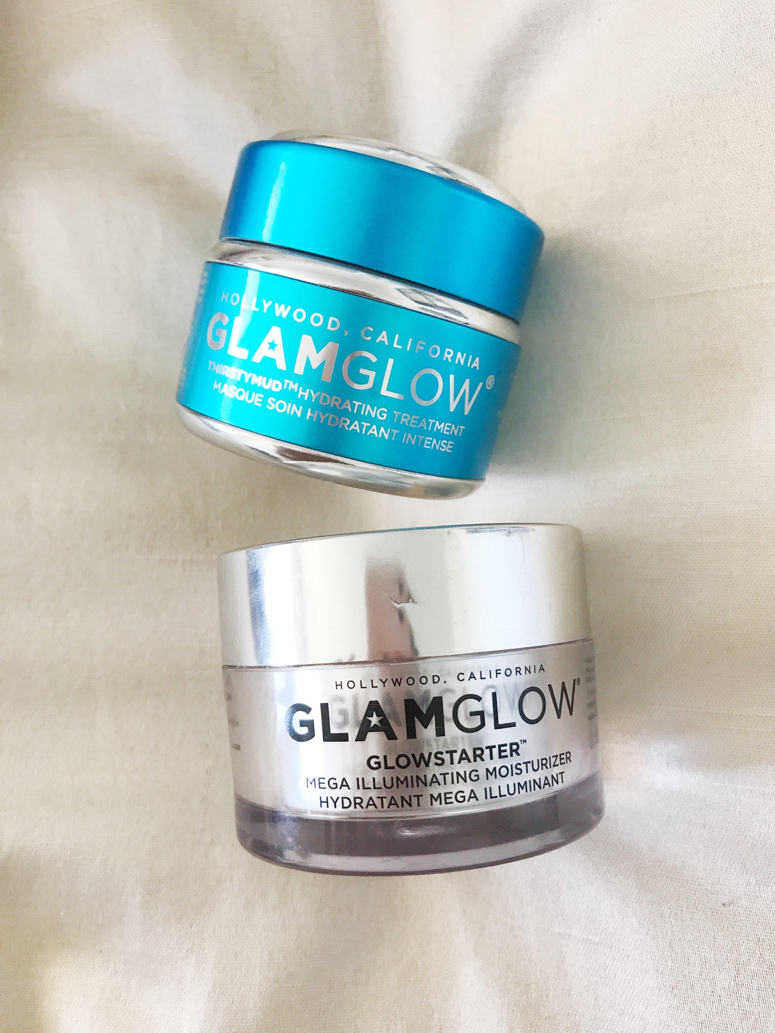 Glamglow Glowstarter Mega Illuminating Moisturizer, and Glamglow ThirstyMud Hydrating Treatment