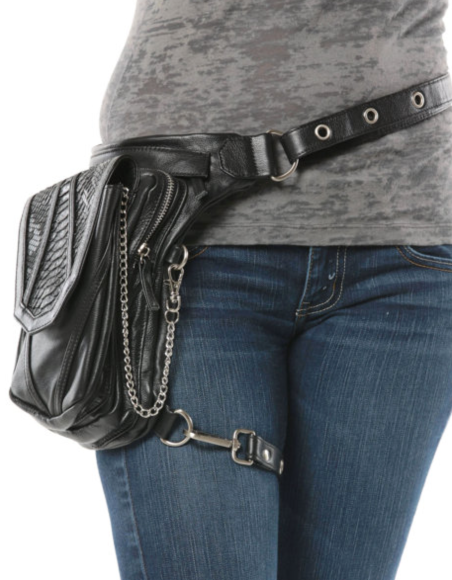 Numb Warrior Pack, WCCouture, $239 - The unique strap system on this bag allows you to carry this purse in 8 different ways.  Handmade, quality leather with two internal compartments with tension bands safely secure your handgun in place.  Photo Credit: WCCouture on Etsy