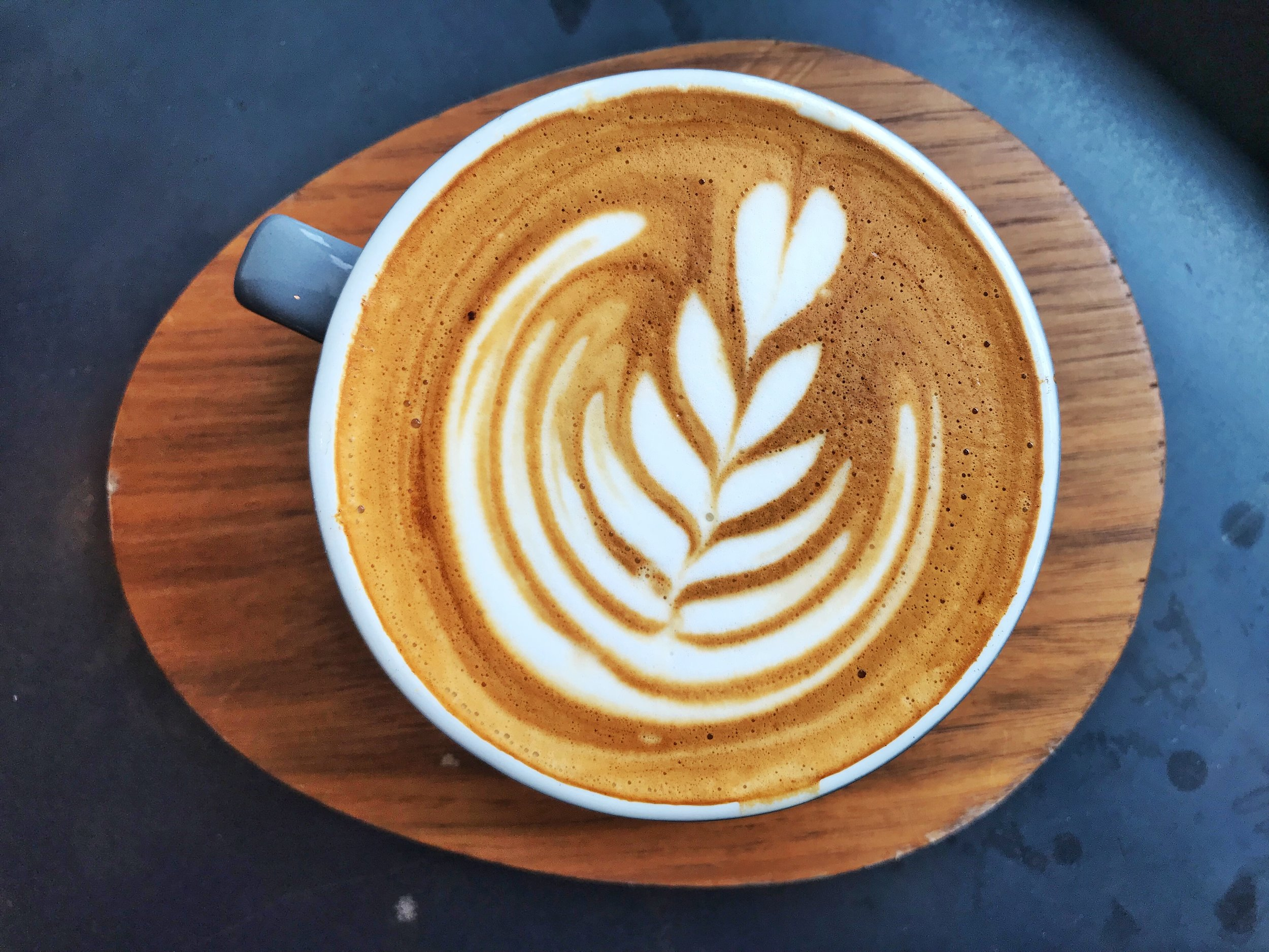 """ [A] favorite drink on the menu is the Cubano, which is a Saigon cinnamon simple syrup that we make in-house and we serve it as a cappuccino,"" says Eric Peters.  The Cubano is 6 oz. steamed milk and espresso, accented with the Saigon cinnamon simple syrup. (And it's as delicious as it sounds!)"