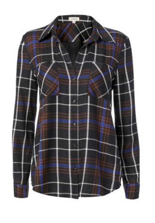 Denise Plaid Shirt, L'Agence, $99 (originally $325) - A plaid shirt is a solid closet stapel. This cut is uber flattering (not too lumberjack-esque) and the color palette is flattering on a wide array of skin tones. The back of this is solid black which also provides an unexpected twist. Plus that markdown is hard to beat!Photo Credit: Intermix