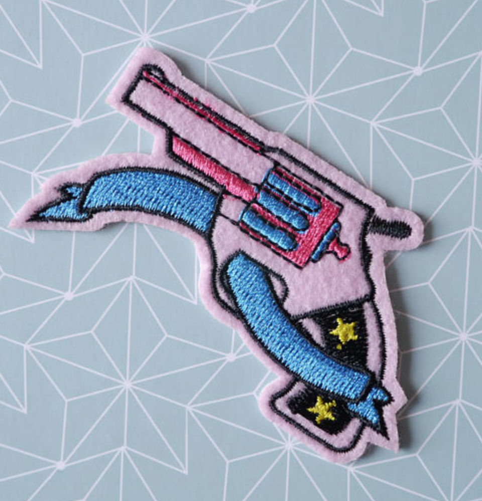 Pic and Patch, Pink Pistol Patch, $3.83 - Photo Credit: PicEtPatchEtColegram on Etsy