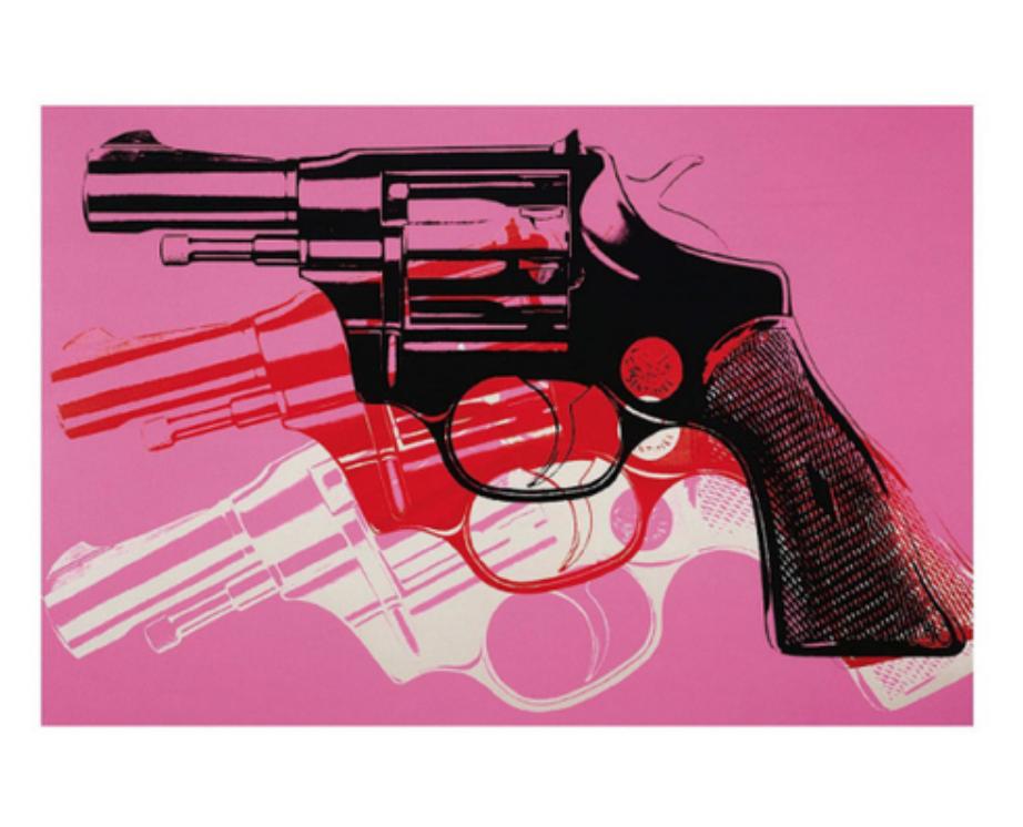 Gun, c.1981-82 Art Print by Andy Warhol 19x13 in, $17.99 - Photo Credit: Poster Revolution