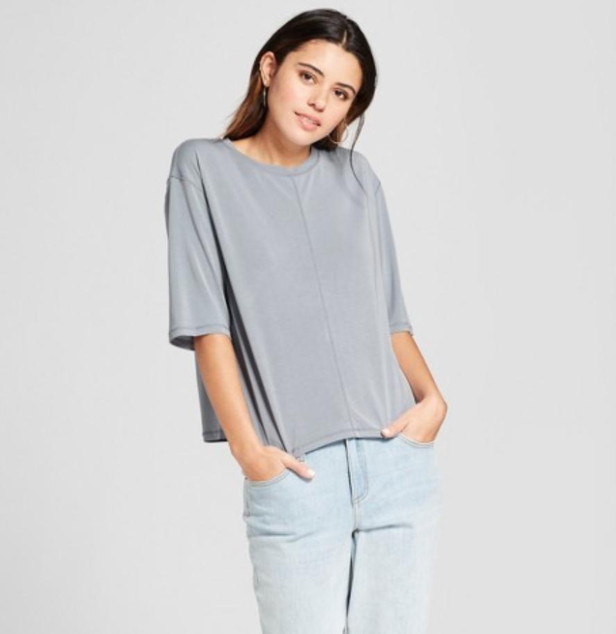 Massimo Gray Elbow Sleeve T-Shirt, $13.98  Photo Credit:  Target