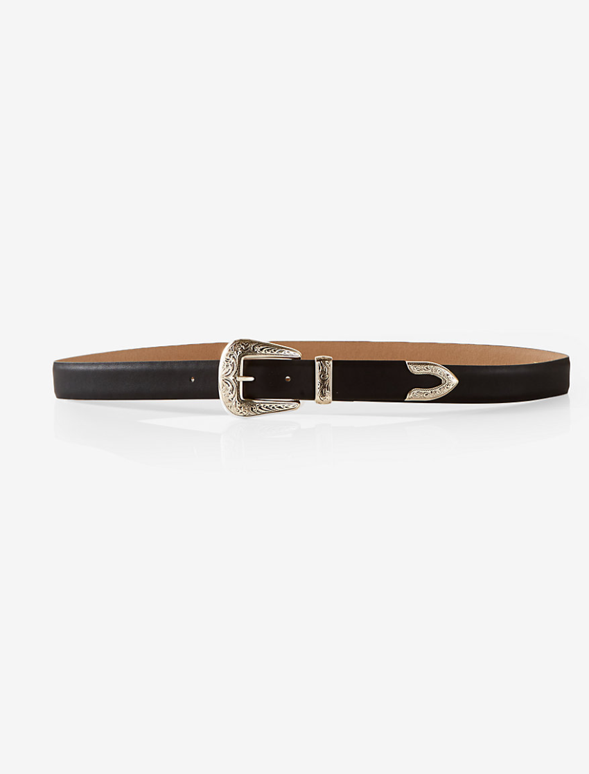 Single Buckle Western Belt from Express, $39.90  Photo Credit:  Express