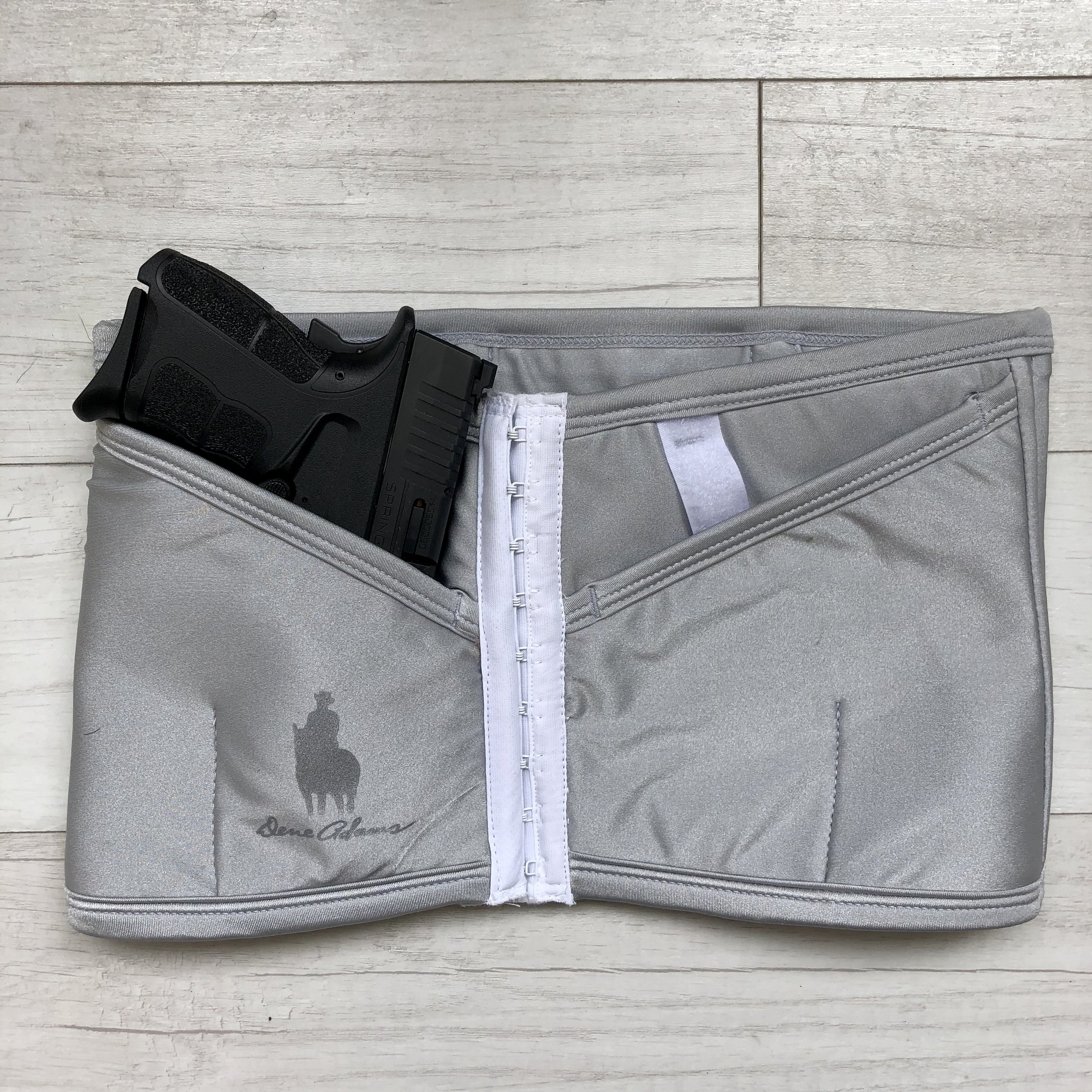Petite Silver Corset Holster (Medium Compression) from Dene Adams, $109.99