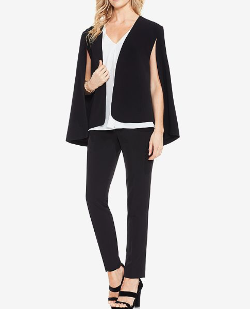 Milano Cape-Style Blazer from Vince Camuto, $139 (30% off with code VIP today! <3)  Photo Credit:  Macy's