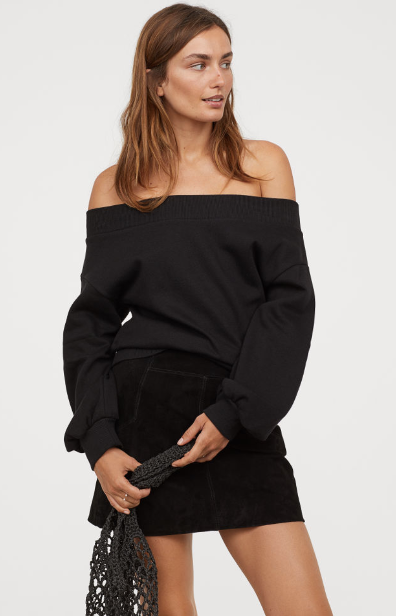 Off-the-shoulder top from H&M, $17.99  Photo Credit:  H&M
