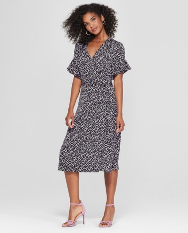 Women's Short Sleeve Wrap Midi Dress from Who What Wear, $32.99  Photo Credit:  Target
