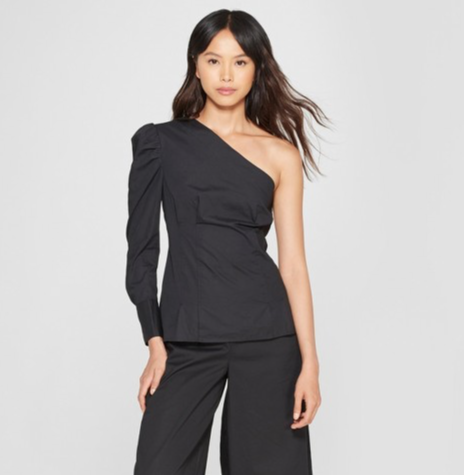 Women's Long Sleeve Textured One Shoulder Top by Who What Wear, $27.99  Photo Credit:  Target