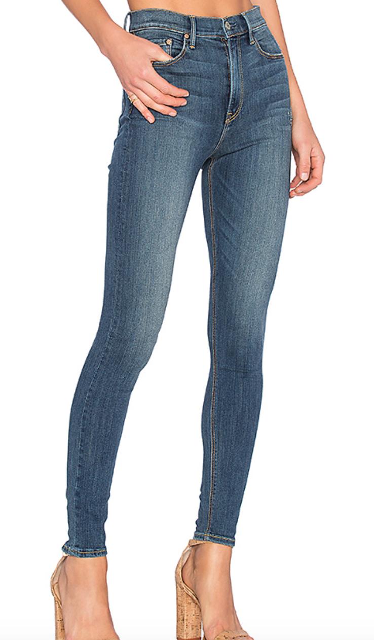 Kendall High-Rise Super Stretch Skinny Jean, GRLFRND Denim, $198  Photo Credit:  Revolve
