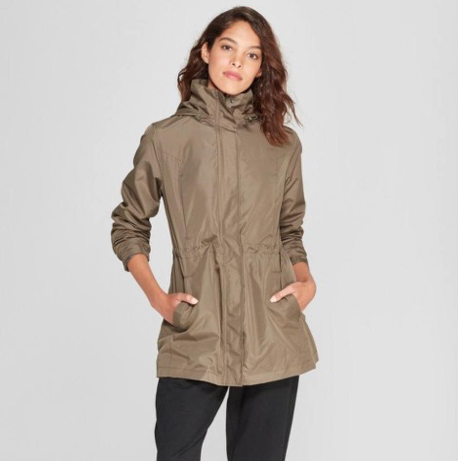 Women's Rain Jacket by A New Day, $39.99  Photo Credit:  Target