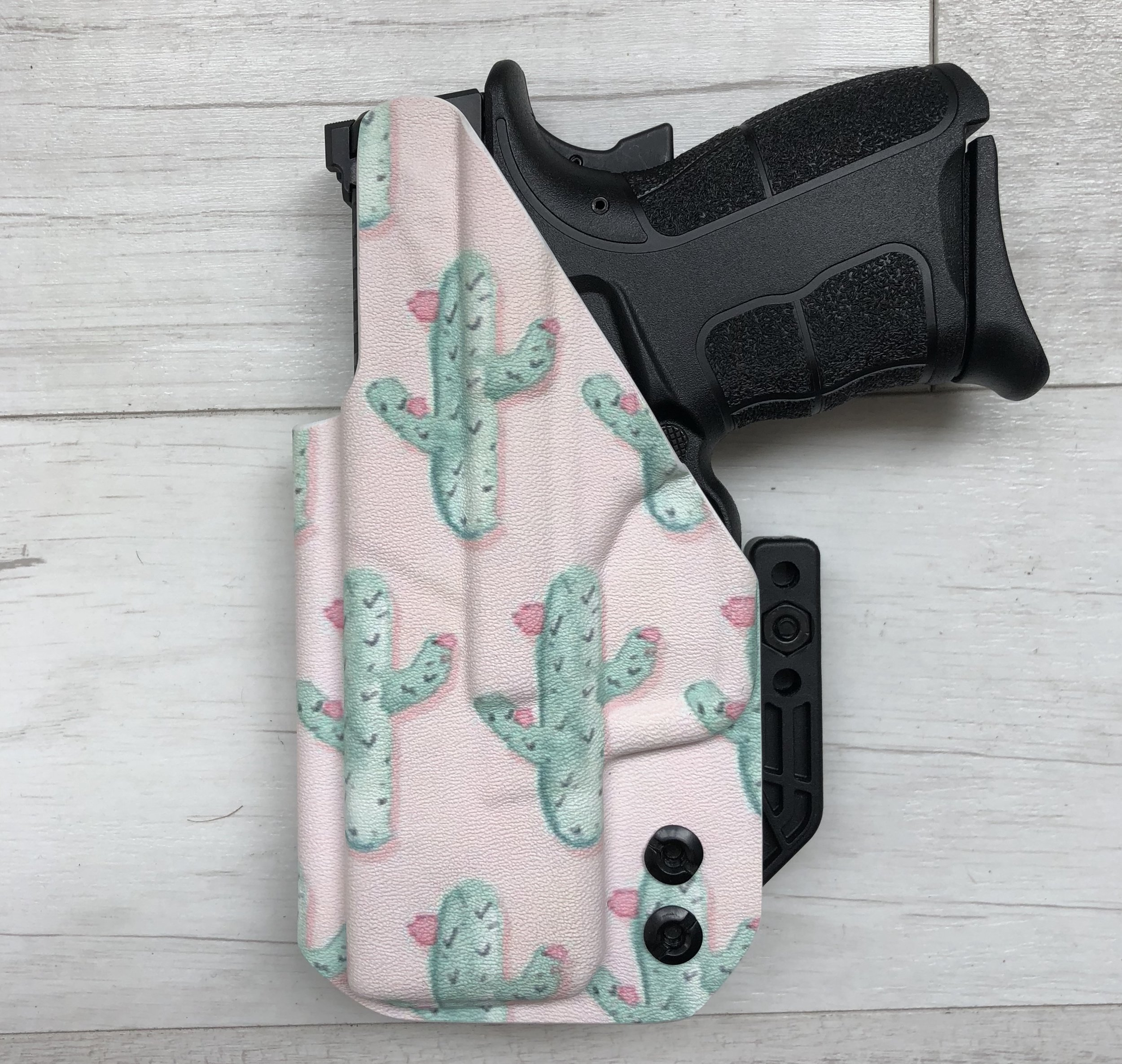 Pink Cactus Wingman Holster with FabriClip from Southern Bullets x Wingman Holsters, $80