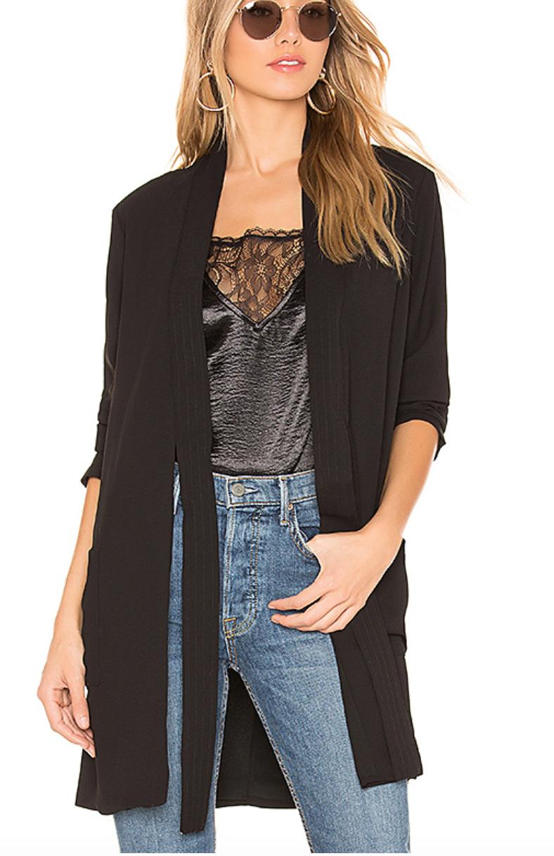BCBGeneration Kimono Blazer in Black, $118  Photo Credit:  Revolve
