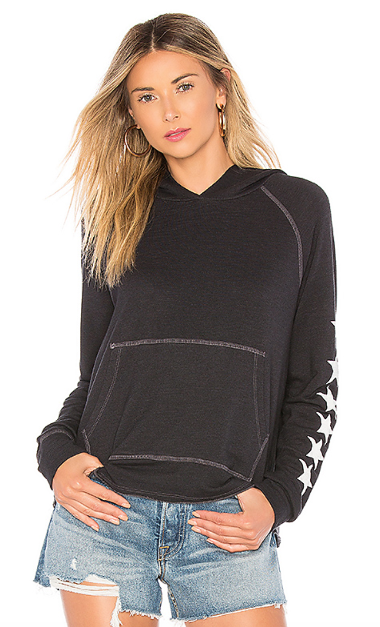 Stars Cropped Hoodie by SUNDRY, $148  Photo Credit:  Revolve