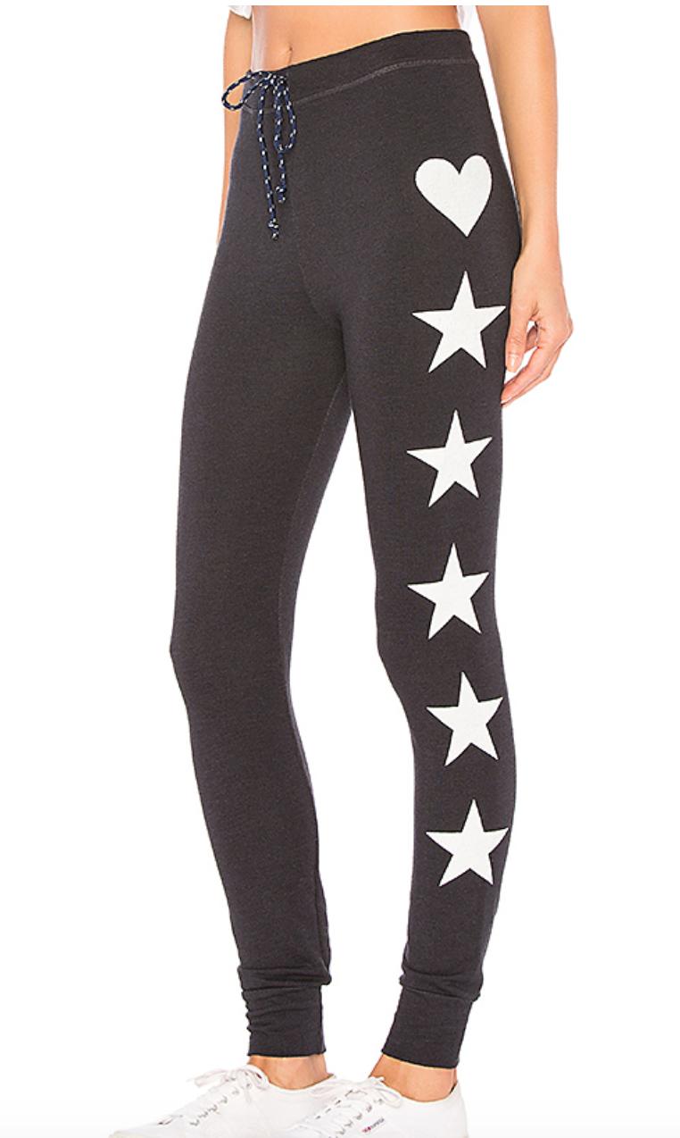 Stars + Heart Skinny Sweatpants by SUNDRY, $100  Photo Credit:  Revolve