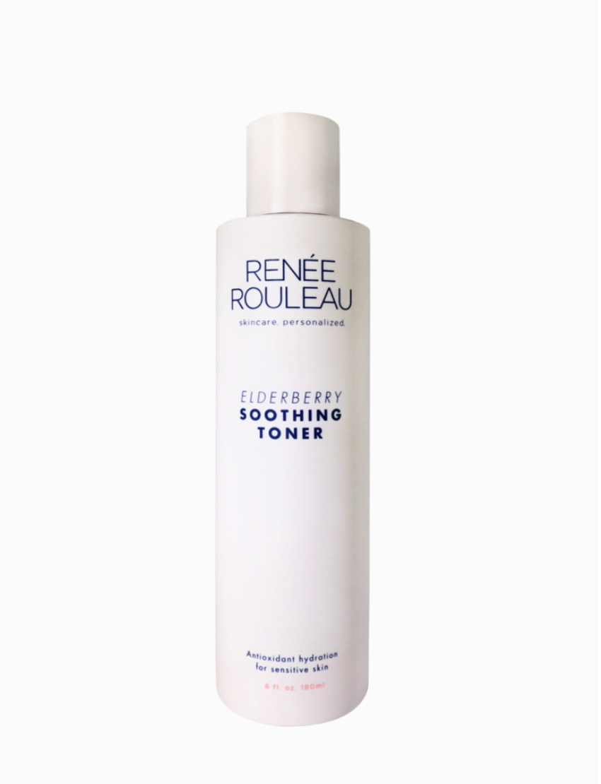 Elderberry Soothing Toner - Renee Rouleau, $35This toner is gentle enough for my uber sensitive skin, and leaves my face feeling refreshed without stripped of moisture and nutrients. It also delivers a punch of antioxidants which helps defend my skin against free radicals during the day.I use it in the morning after I get out of the shower before I apply my SPF/moisturizer, and also before bed before I apply my serum and PM moisturizer.