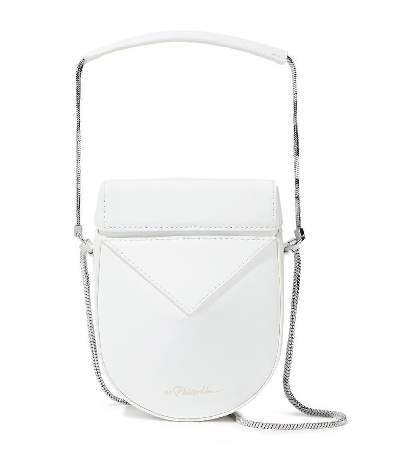 Soleil Glossed-Leather Shoulder Bag