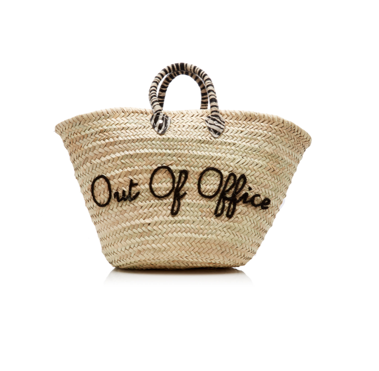 Out of Office Le Shortie Straw Tote