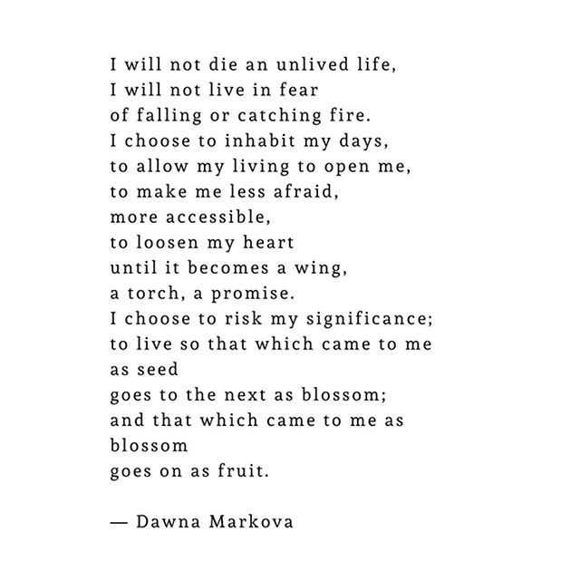 I found this quote from Dawna Markova this weekend and loved it so much I had to share🌷💫🌻🌸⭐️✨🌷Happy Monday 2nd babes!