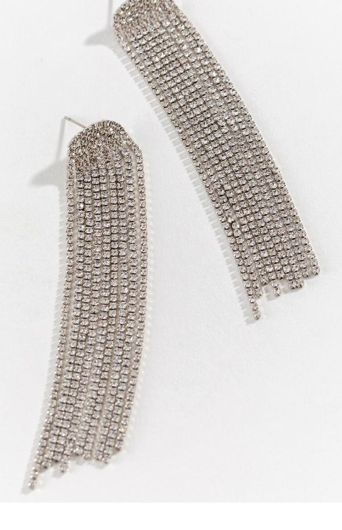 Aravis Cascading Crystal Earrings - Francesca's, $30Photo Credit: Francesca's