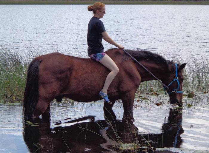Horseback in the Lake