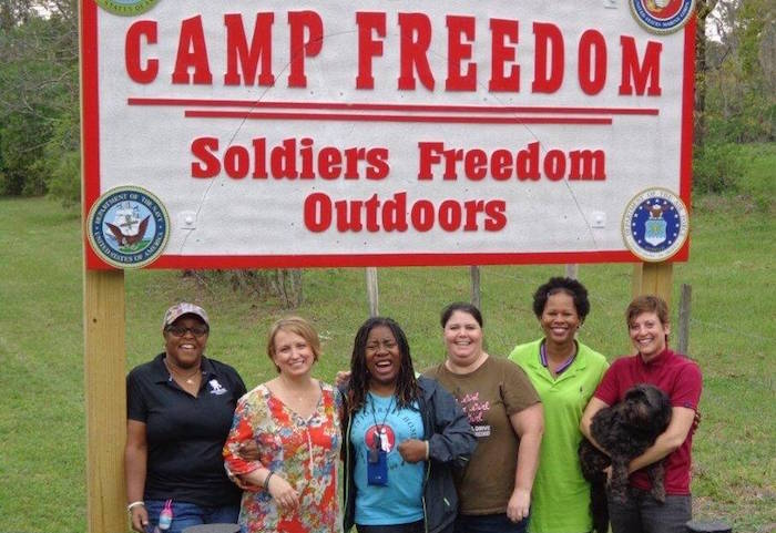 Ladies Camp Freedom sign
