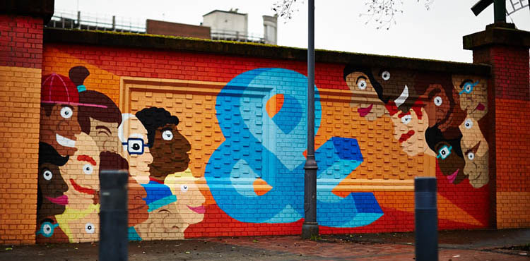 George Street Mural by artist and illustrator Nathan Evans