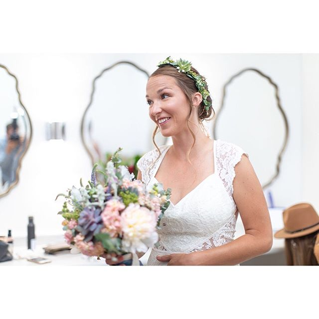 We love working with brides like this! Especially when they're as strong and rad as @halestormss  Hair: @stylebyyork Dress: @anthropolgie Floral: @adelafloralbynatalie