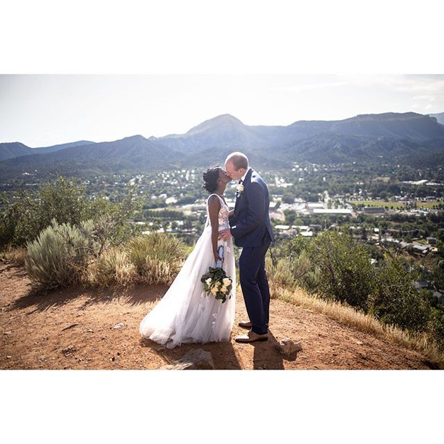 Couples like these, in places like this, make our job easy!  Dress: @willowbywatters  Hair: @carmen.tafoya  Makeup: @breekelly_hmua  #rockymountainbride #durangoweddingphotographer #durangowedding #adventurewedding