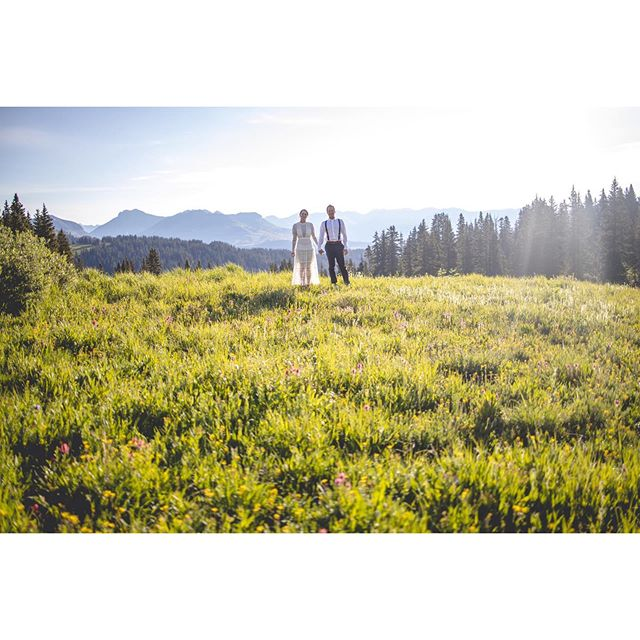 Jenny and Brian had their 1st date in this meadow. Now they're headed to the Alps to get married and wanted their photos to be here in the San Juan's. More to come!  #durangowedding #rmbcolorado #greenweddingshoes #adventurewedding #durangoweddingphotographer