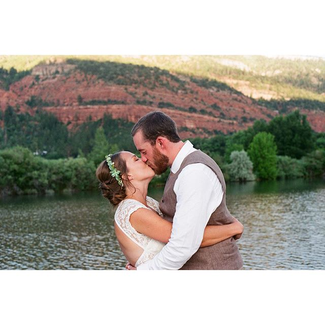 Halie and Alex on film. We're now offering 35mm film options in our packages.  #35mmweddingphotography #weddingfilm #durangoweddingphotographer