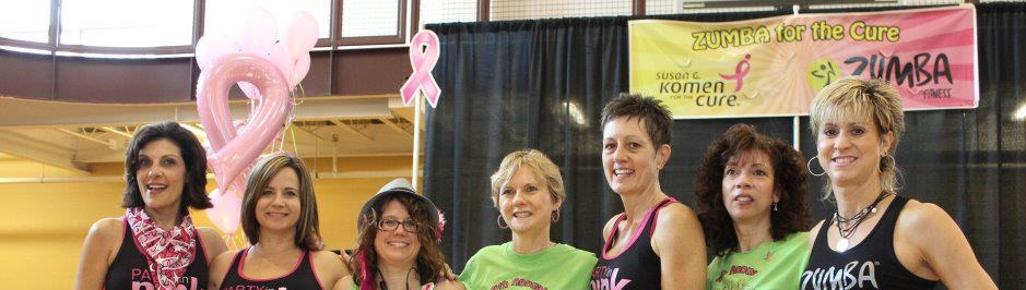Maria, Susan, Cat. Fran, Lisa, Margie and Debbie at one of Cat's many breast cancer fundraisers in honor of her mom.