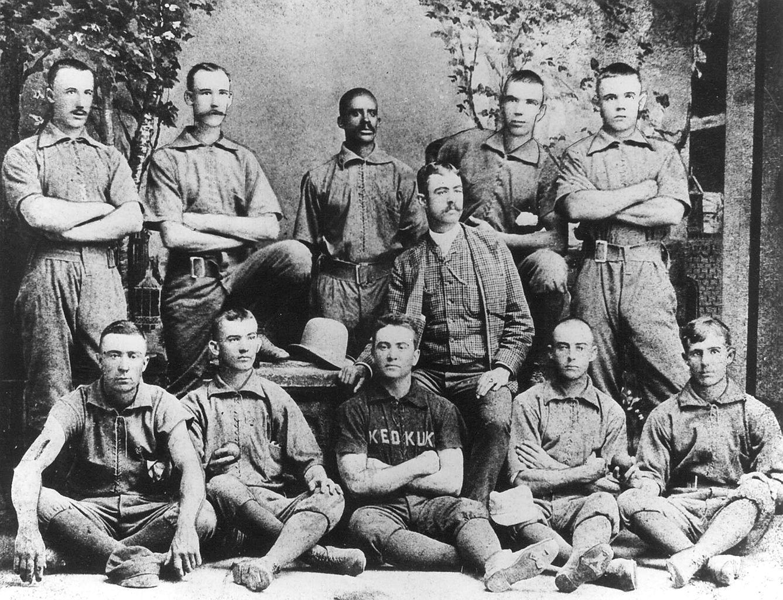 The 1885 Keokuk Iowa Baseball Team featuring Bud Fowler