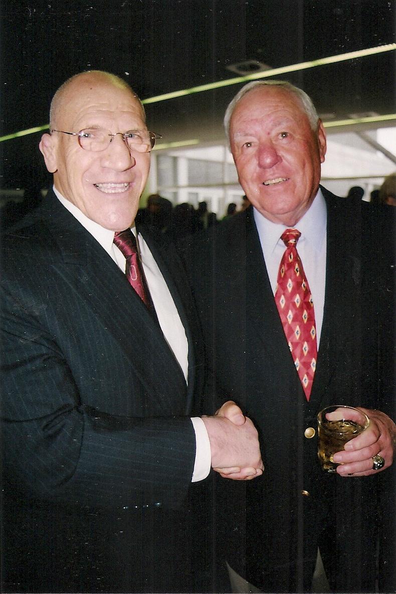 Two of Pittsburgh's most popular sports celebrities, Bruno Sammartino and   Bill Mazeroski. Photo by Jim O'Brien