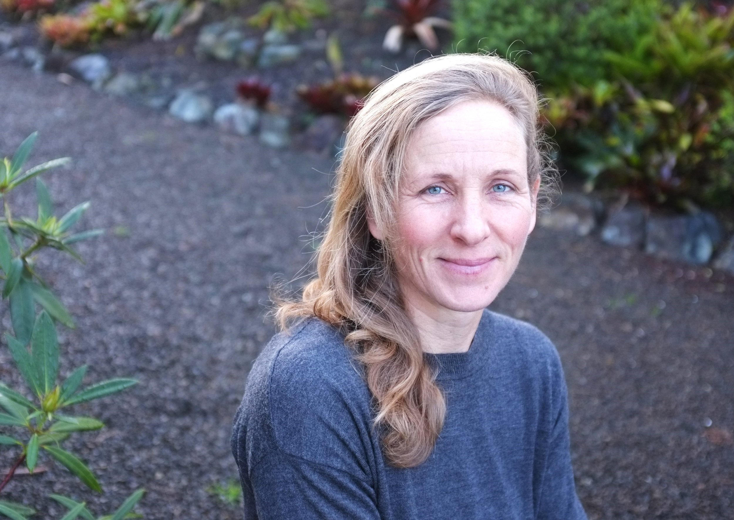 Carol Roberts - at home in New Zealand.