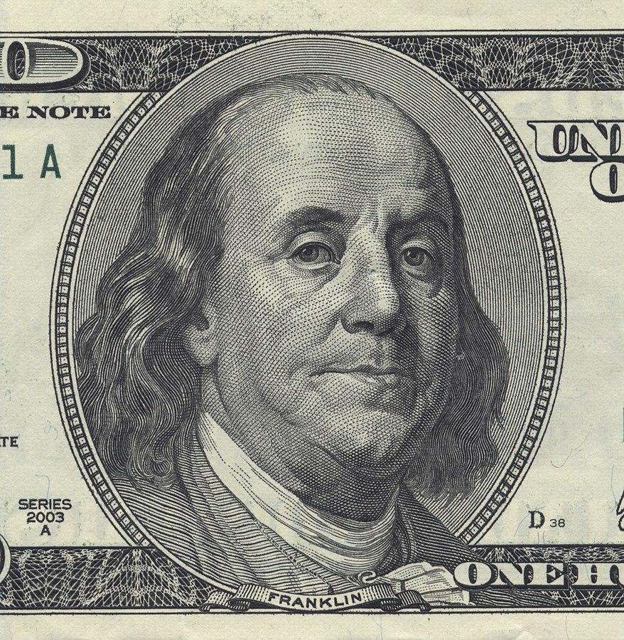 104 OB1 878px-Benjamin-Franklin-U.S.-$100-bill public domain.jpg