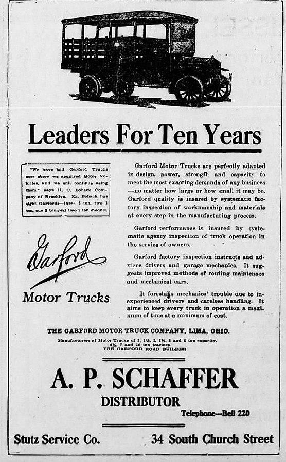 104 OB2 1918_-_A_P_Schaffer_Corporation_Newspaper_Ad_Allentown_PA public domain.jpg