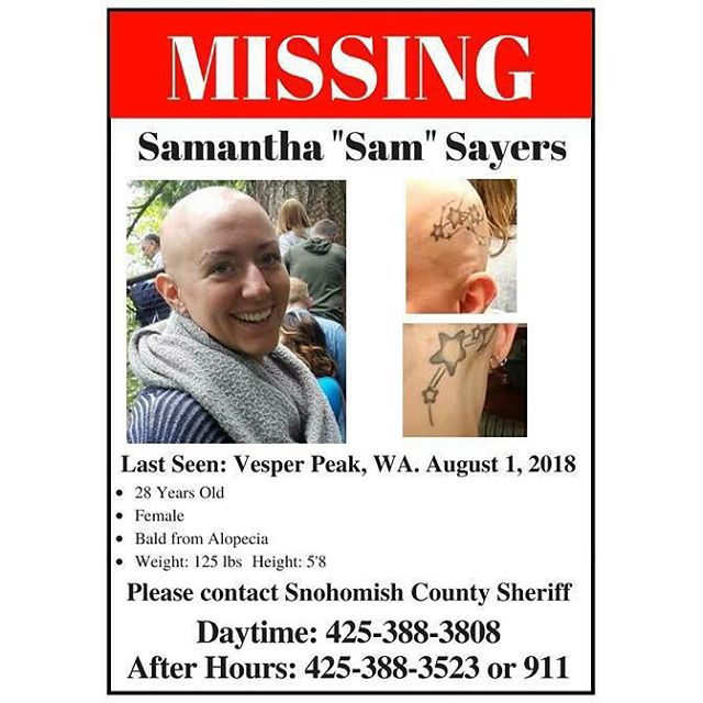 Please share until Sam is found and reunited with her family and friends.