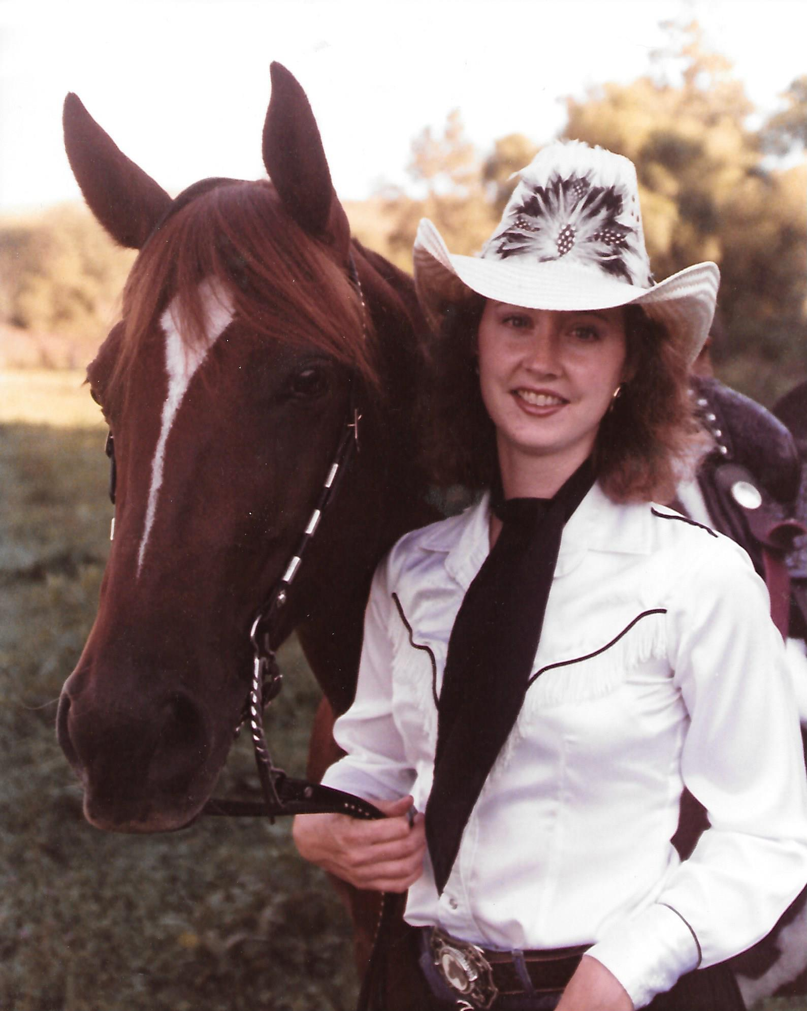 Annette with her horse, Jenny.
