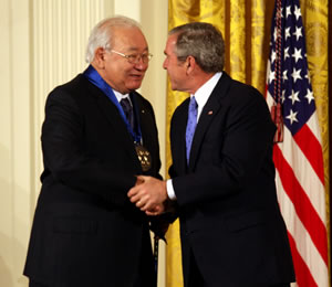 N. Scott Momaday with President George W. Bush