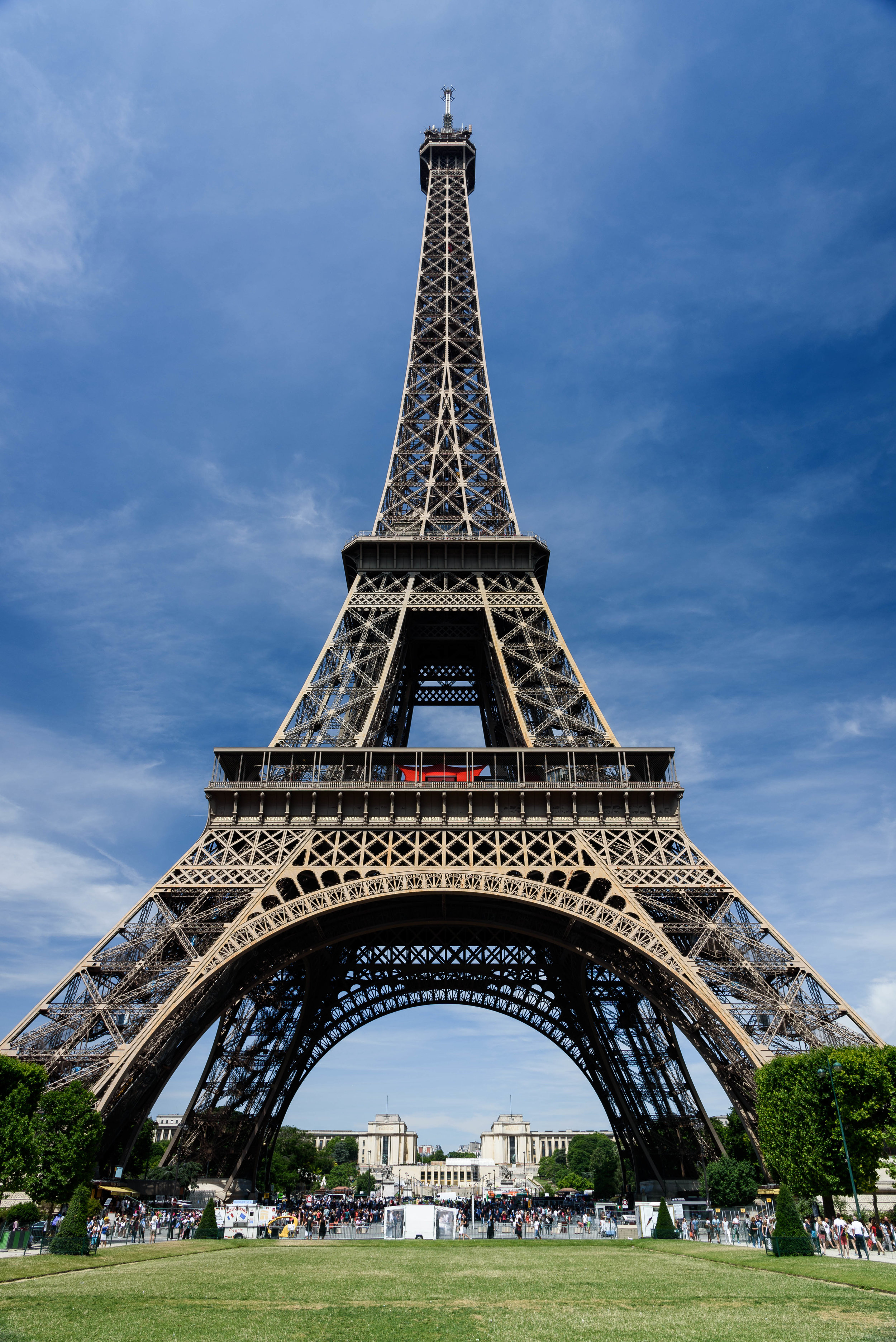 The Eiffel Tower from the Champs de Mars