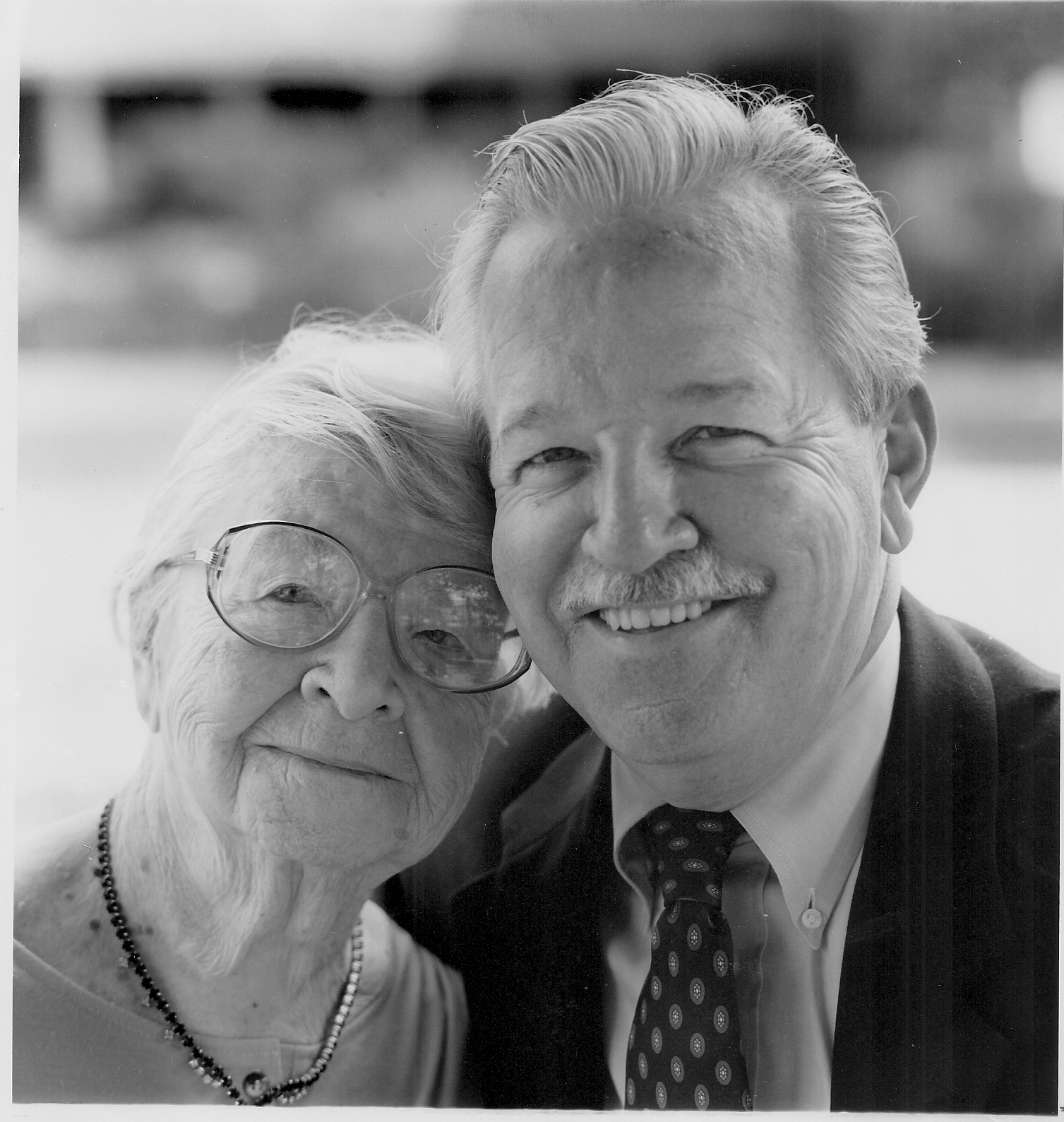 Jim O'Brien and his beloved mother, Mary.