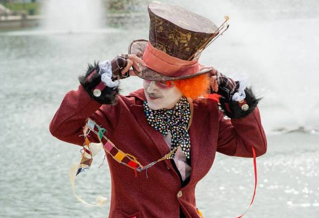 Dr. Charney IS The MadHatter - But It IS Up To You to vote on your favorite Costume!