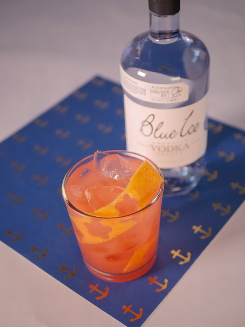 Bluehound - The Bluhound is perfect for any occasion and seasonIngredients:· 1 ½ oz Blue Ice Vodka· 5 oz grapefruit juice· IceDirections:Combine vodka and grapefruit juice in a highball glass. Add Ice and stir well.